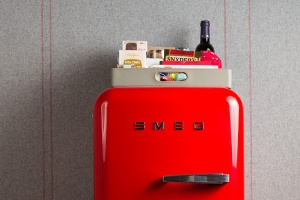 This classic style SMEG refrigerator made for the Chambers of the Virgin Hotel.