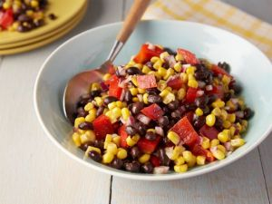 Smoky Black Bean Corn Salad (Click image to find all of the Food Network's easy recipes)