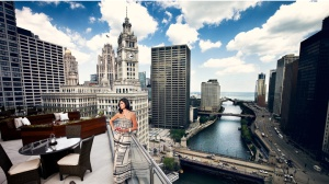Terrace at Trump Tower.  Photo by Brian Kuhlmann