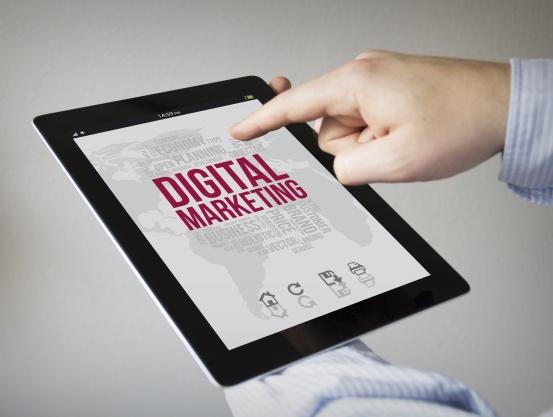 digital marketing on a tablet